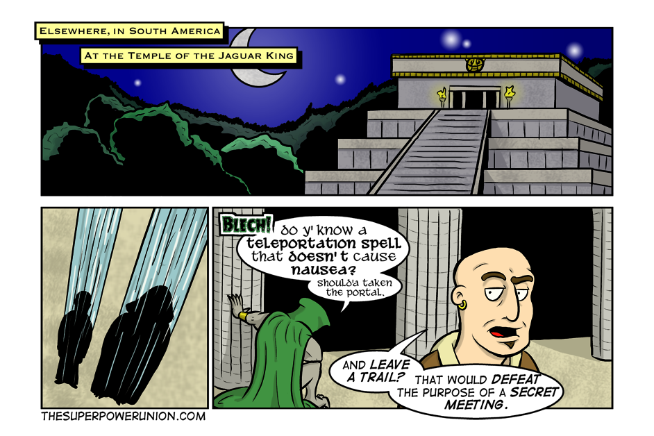 Gary's First Day Continued – The Superpower Union Webcomic